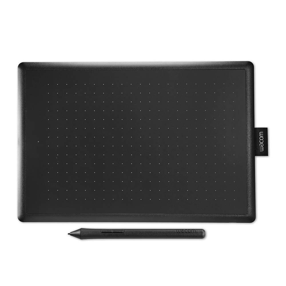 Wacom One by Wacom Medium - Tableta gráfica con lápiz digital sensible a la presión, compatible con Windows y Mac, óptima para oficina en casa y e-learning, color negro y rojo: Amazon.es: