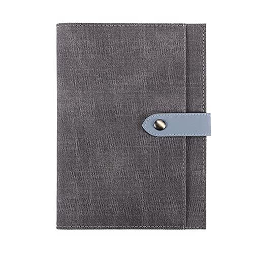 TOMOP Cuaderno de cuero A5 con tapa dura de cuero sintético, con 100 páginas para suministros escolares de oficina