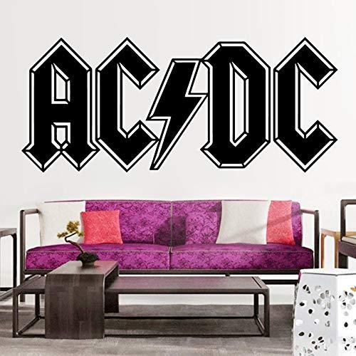 Englisches Alphabet ACDC Schlafzimmer Wohnzimmer Dekoration abnehmbare Wandaufkleber 56x22cm