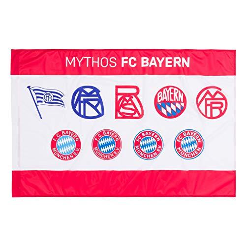 FC Bayern München Fahne - Logo Historie - Flagge 100 x 150 cm FCB