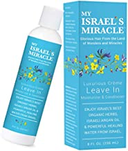 Luxurious Crème Leave In Conditioner and Moisturizer - Herbal Hair Conditioner – Deep Conditioning Hair Treatment with Powerful Organic Hair Care Herbs from Israel (8 Ounce)