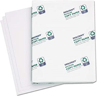 SKILCRAFT 100% Recycled Sustainable Copy Fax Laser Inkjet Printer Paper, 500 Sheets, Bright White (NSN6111896-Ream)