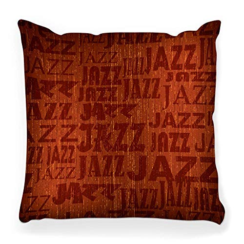 Fantastic Fairy Soft Square Pillow Cover 20x20 Abstract Jazz Vintage Backdrop Black Classic Classical Clef Color Concept Dirty Frame Grunge Home