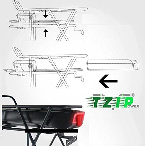 TZIPower Batterie de Rechange pour Porte-Bagages Samsung 29ET 36 V 14,5 Ah avec kit de Montage pour vélo électrique