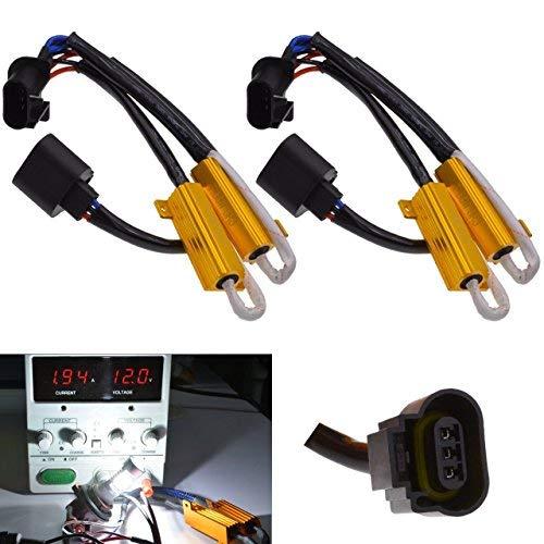 TUINCYN 2pcs 50W 8 ohm H13 Led Load Resistors Connector Fix Headlight Turn Signal Bulb Daytime Running Lights Fog Lamp Car Lighting...