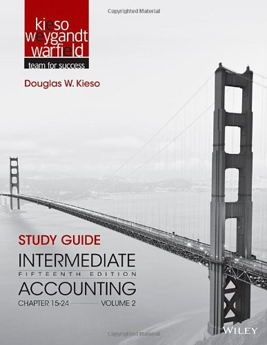 Study Guide to accompany Intermediate Accounting, Volume 2: Chapters 15 - 24