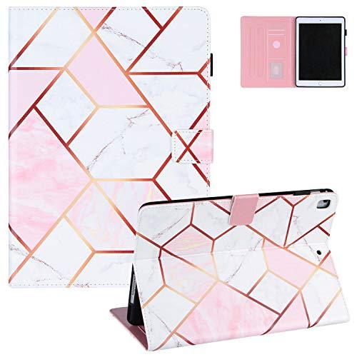 iPad Mini 5th Gen 2019 Case 7.9 Inch, iPad Mini 4/Mini 3/Mini 2/Mini 1 Cover, UGOcase Auto Wake Sleep PU Leather Folio Stand Cash Pocket Case for iPad Mini 5 2019/ iPad Mini 4 3 2 1 - Pink White