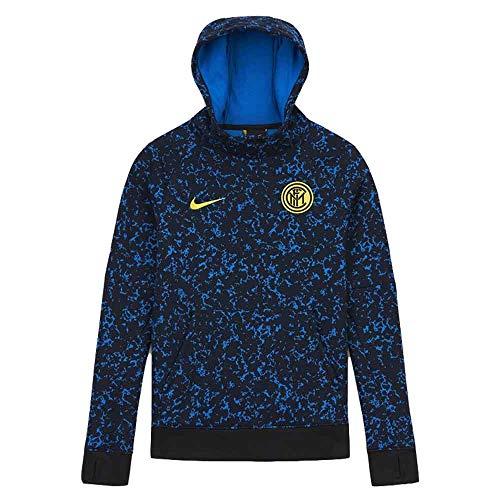 Nike INTER Y NK GFA FLC PO HOOD, Felpa Unisex Bambini, black/Tour yellow/(tour yellow) (no sponsor), S