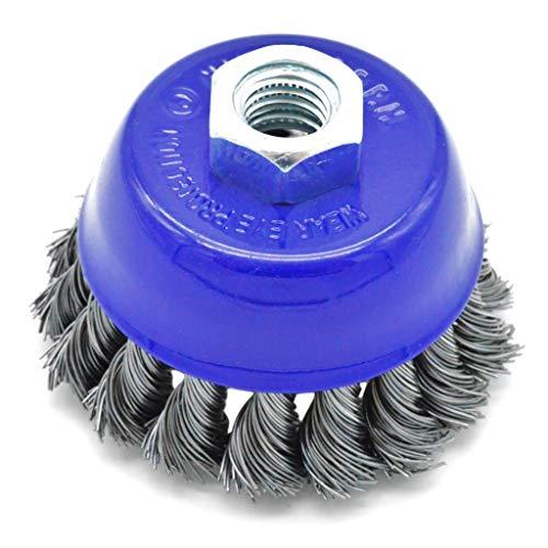 Cepillo para amoladora angular (acero, 75 mm