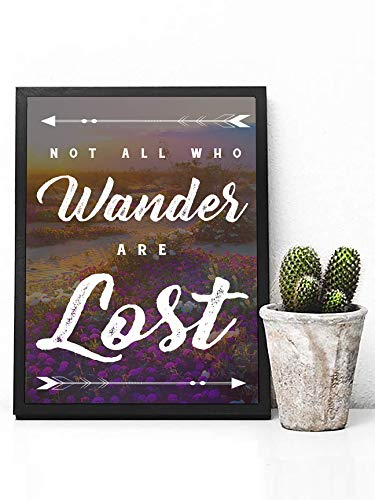 Not All Who Wander Are Lost Poster Print - Wildflower Poster Print - Lord of the Rings Poster Print - J.R.R Tolkien Poster Print Quote - Inspirational Quote Poster Print - Boho Home Decor