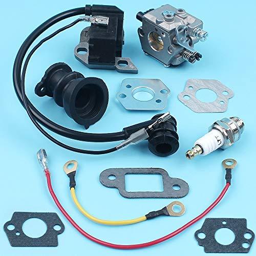 HaoYueDa Carburador de encendido Bujía colector de admisión Kit Compatible con STIHL MS250 MS230 MS210 021 023 025 Piezas de repuesto for motosierras