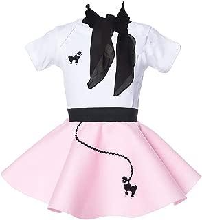 Hip Hop 50s Shop Baby/Infant 3 Piece Poodle Skirt Costume Set