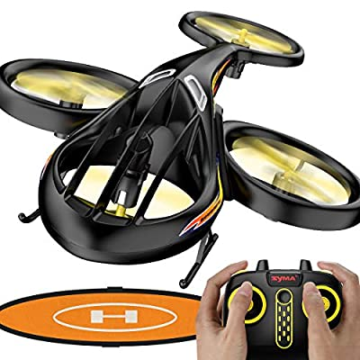 Syma TF1001 Remote Control Helicopter,RC Helicopter Toys with Altitude Hold,2.4Ghz RC Plane 4.0Channels with Gyro, RC Flying Drone with Landing Pad for Kids & Adult Indoor Outdoor Micro Toy