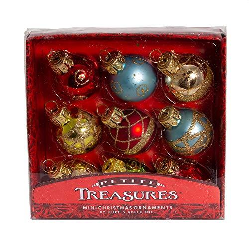 Kurt Adler Petite Treasures Multi Color Ball Christmas...