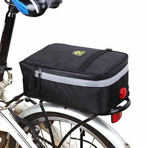 Bolsa para bicicleta de Huayang, ideal para el sillín trasero de bicicleta de montaña, bolsa de transporte impermeable para botella de agua