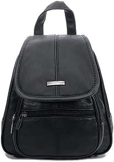 CASPAR TL777 kleiner Echt Leder City Rucksack Mini Daypack