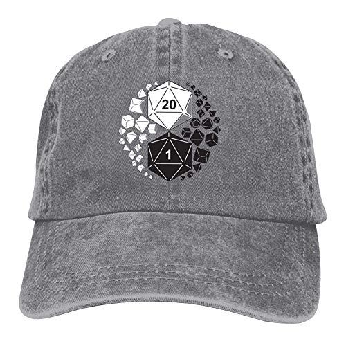 YOHOMO Dungeons Dragons Yin Yang Unisex Vintage Adjustable Cotton Baseball Cap Denim Dad Hat Cowboy Hat