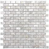Art3d 10-Piece Mother of Pearl Shell Mosaic Backsplash Tile for Kitchen, Bathroom Walls, Spa Tile, Pool Tile, 12' x 12' White