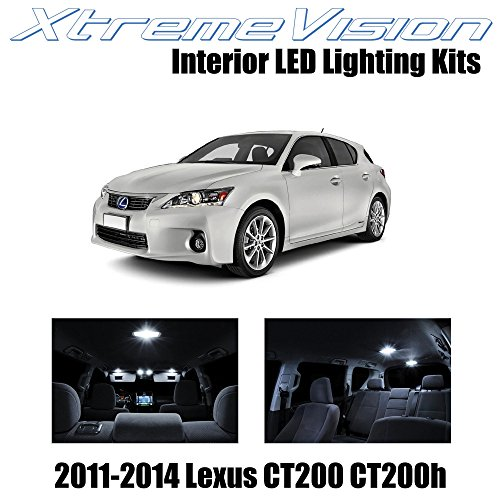 XtremeVision Interior LED for Lexus CT200h CT200 2011-2014 (8 Pieces) Pure White Interior LED Kit + Installation Tool