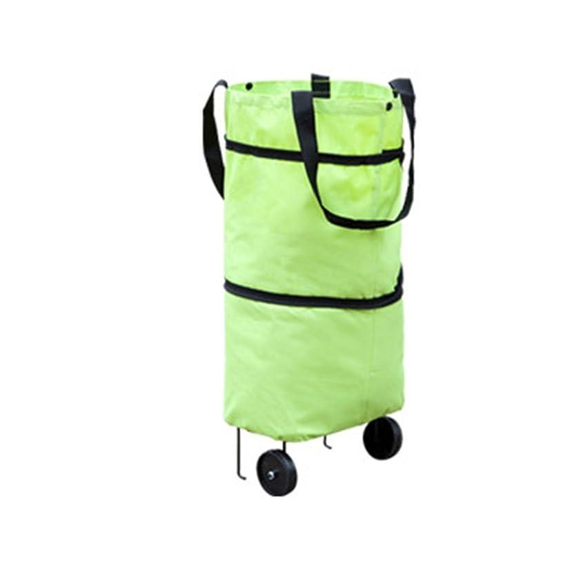 Nicedeal Large Capacity Waterproof Oxford Cloth Foldable Shopping Trolley Wheel Bag Storage Box