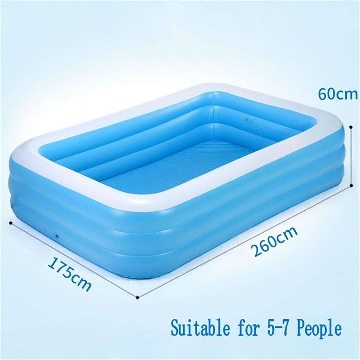 YUANY INFLATABLE BATH HOME Large Inflatable Pool Pool Pool Kids Sea Pool Suitable for 5-7 Persons Bathtub