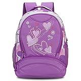 Hynes Eagle Kids School Backpack Sweetheart Pattern Backpack for Girl Purple