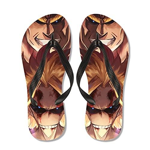 YZJYB My Hero Academia Tongs Unisexe Été Plage Sandales Doux Été Pantoufle Cosplay All·Might Anime Flip Flops Pantoufle Surf en Plein Air Piscine Extérieur/Intérieur,B,EU 41~42(270)