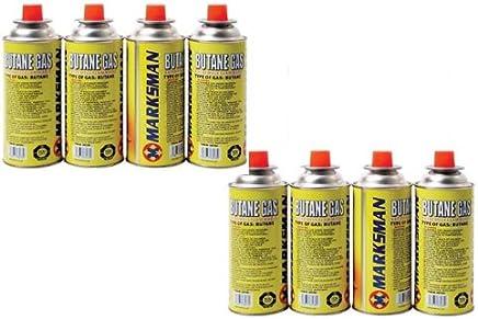 Marksman Marks 8 Butane Gas Bottles Canister Camping Heater Cooker BBQ