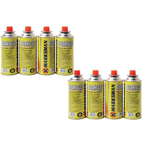 Marksman Marks 8 Butane Gas Bottles Canister Camping Heater Cooker BBQ