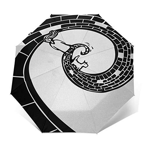 Paraguas Plegable Automático Impermeable Fantasía 7, Paraguas De Viaje Compacto a Prueba...