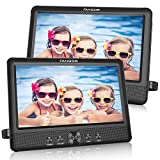 FANGOR 10.5 Dual DVD Player for Car Portable Headrest Video Players with 2 Mounting Brackets, 5 Hours Rechargeable...