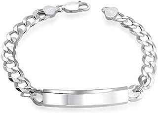 silver id braclet