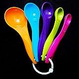 Migvela 5 Pezzi cucchiaini da Cucina in plastica atossica cucchiaino da Zucchero Cucchiaio...