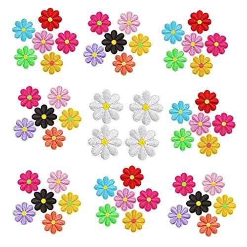 GZjiyu - 52 parches de flores para planchado, para hombres, mujeres, niños, niñas, manualidades, decoración, camiseta, mochila, sudadera, bolsa para zapatos (13 colores)