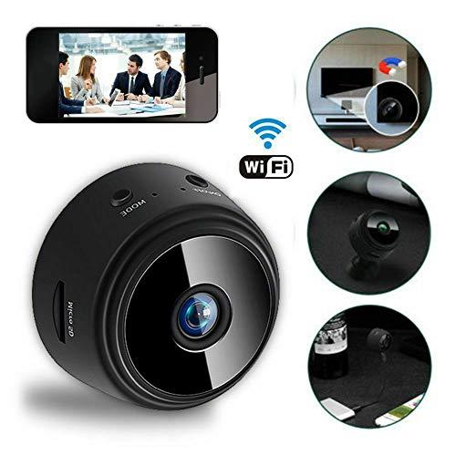 zNLIgHT Tragbare Mini-WiFi-Sicherheitskamera, 1080P HD, kabellose Überwachungskamera, Zuhause, Büro, Haustier, Auto, Baby, Nanny, Bewegungserkennung, Sicherheits-Video-Camcorder