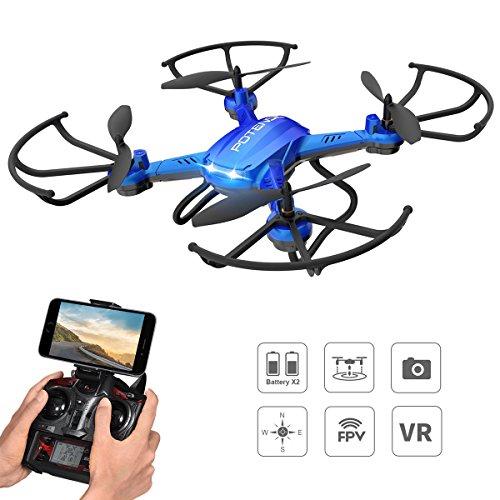 Potensic Drone 2.4Ghz Cámara HD. Estabilización de altura. Botón de parada de emergencia. Alarma de aviso pérdida de control.