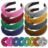 Zuzer 8PCS Diademas Mujer con 8PCS Scrunchies,Turbantes para Mujer,Cinta Pelo Mujer Lazos para el Cabello,Accesorios de Peinado para Mujeres y Niñas