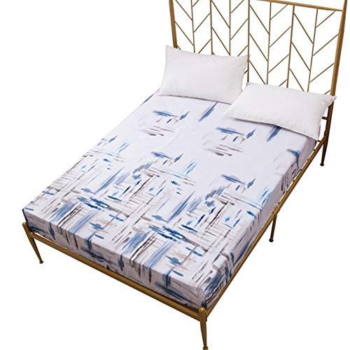 Y-F Nueva sábana Ajustable de poliéster Impresa para Cama, Funda de colchón elástica Integral, Gran Oferta, Protector de Cama Textil para el hogar, Antideslizante