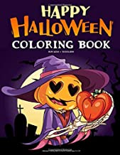 Halloween Coloring Book For Kids & Toddlers Ages 2-4, 4-8: Happy Halloween Children Coloring book With Fun Monsters, Witch...