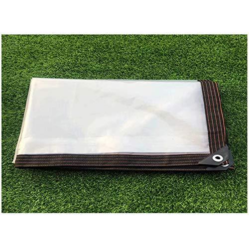 ZXCVASDF Tarp, Clear Tarpaulin with Metal Grommets, Tear Resistance Waterproof, Tarpaulin for Deck Porch Patio Canopy or Outdoor Camping Rainproof or Sun,300cmx500cm