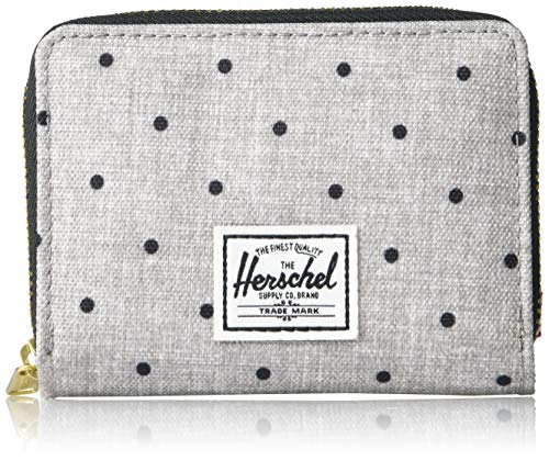 Herschel Tyler RFID Wallet Polka Dot Crosshatch Grey/Black