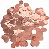 ❤Size: about 1 Inch diameter ❤Made from foil ❤Color: Rose Gold ❤To promote a celebratory atmosphere, decoration for wedding, birthday, bridal shower, Valentines Day, baby shower, parties and other occasions ❤More using ways: paper round dots can also...
