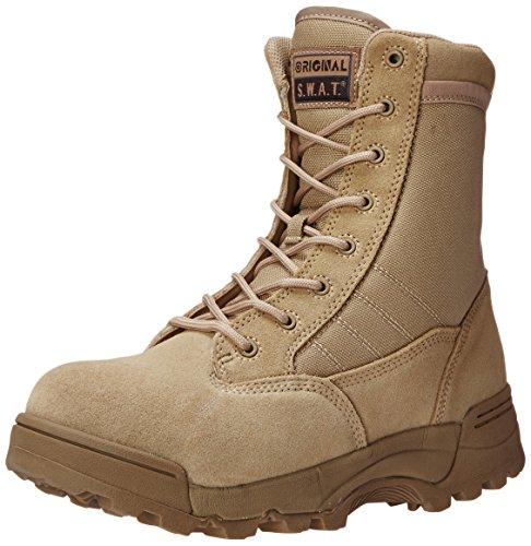 Original S.W.A.T. Men's Classic 9' Comp Toe Side Zip Work Boot,Tan,10 W US