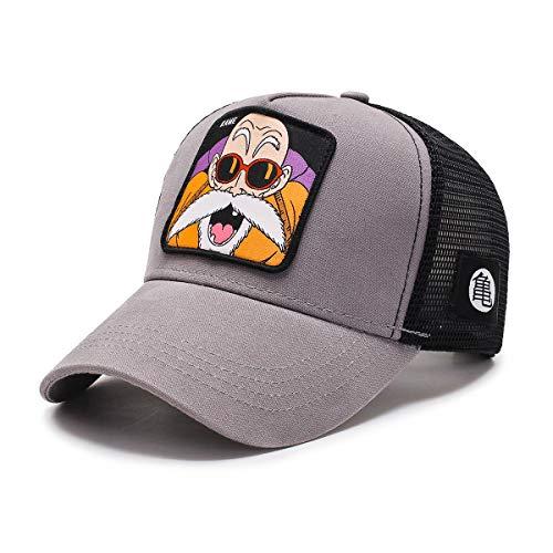 I3C Gorra Goku Dragon Ball Sombrero de malla para hombre Snapback gris...