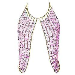 Pink Shoulder Necklaces Bra Party Wear