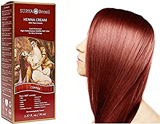 Surya Henna Copper Cream - 2.31 oz. (70 ml) (Pack of 2)