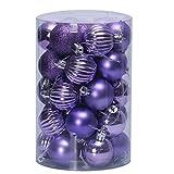VijTIAN - Bola de Navidad Colgante para árbol de Navidad, 34 Unidades, 40 mm,...