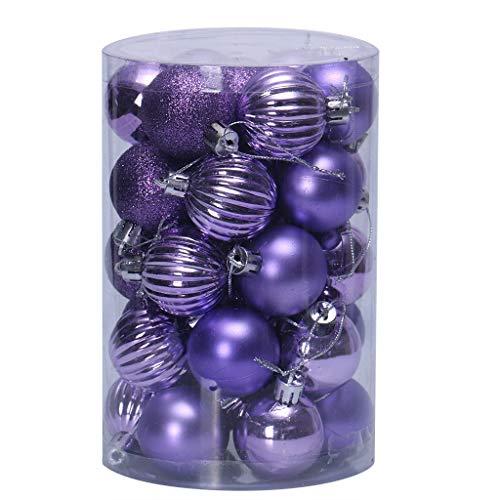 VijTIAN 34 palline da appendere per albero di Natale da 40 mm per decorare la casa e le feste, per...
