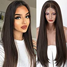 Straight Lace Front Synthetic Wigs with Baby Hair