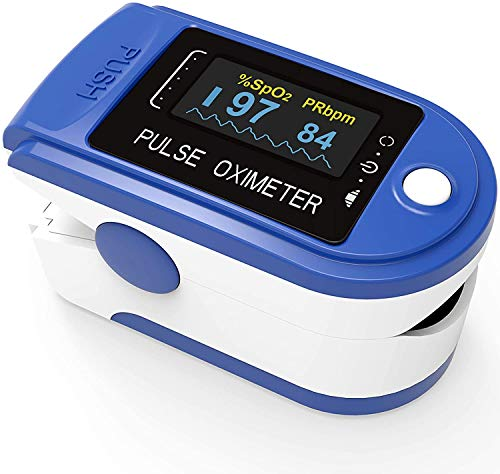Vitamona Pulsmessgerät Fingerpulsoximeter Pulsoximeter Oximeter zur Messung von Puls und Sauerstoffsättigung. Versand aus Deutschland.